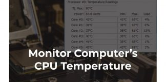 cpu temp monitor