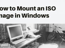 mount an iso image in windows vista