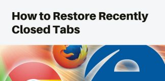 restore tabs chrome
