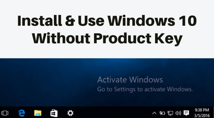upgrade to windows 10 product key